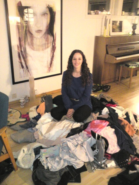 The hostess with the mostess, and the pile of clothes!