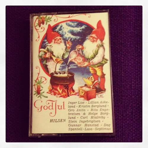 Old school! Christmas music on cassette!
