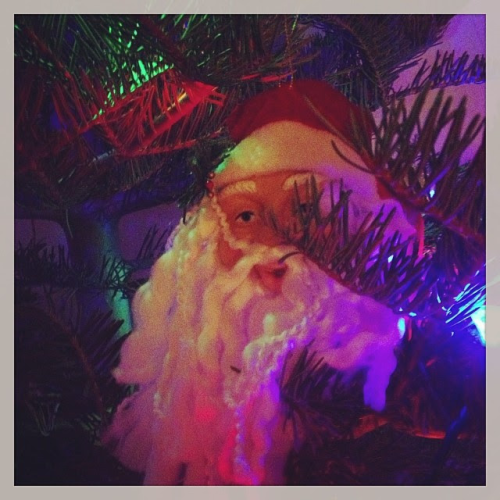 Creepy Santa! If you've been naughty, he'll come visit you.