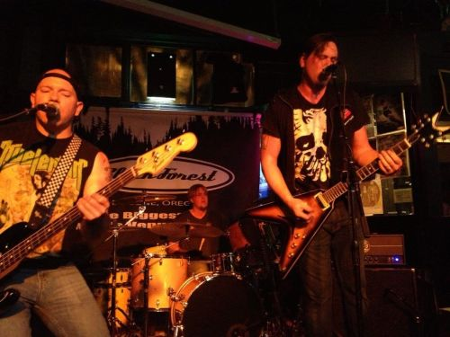 My hubby's band Candy Machine Wrecker performing in Eugene